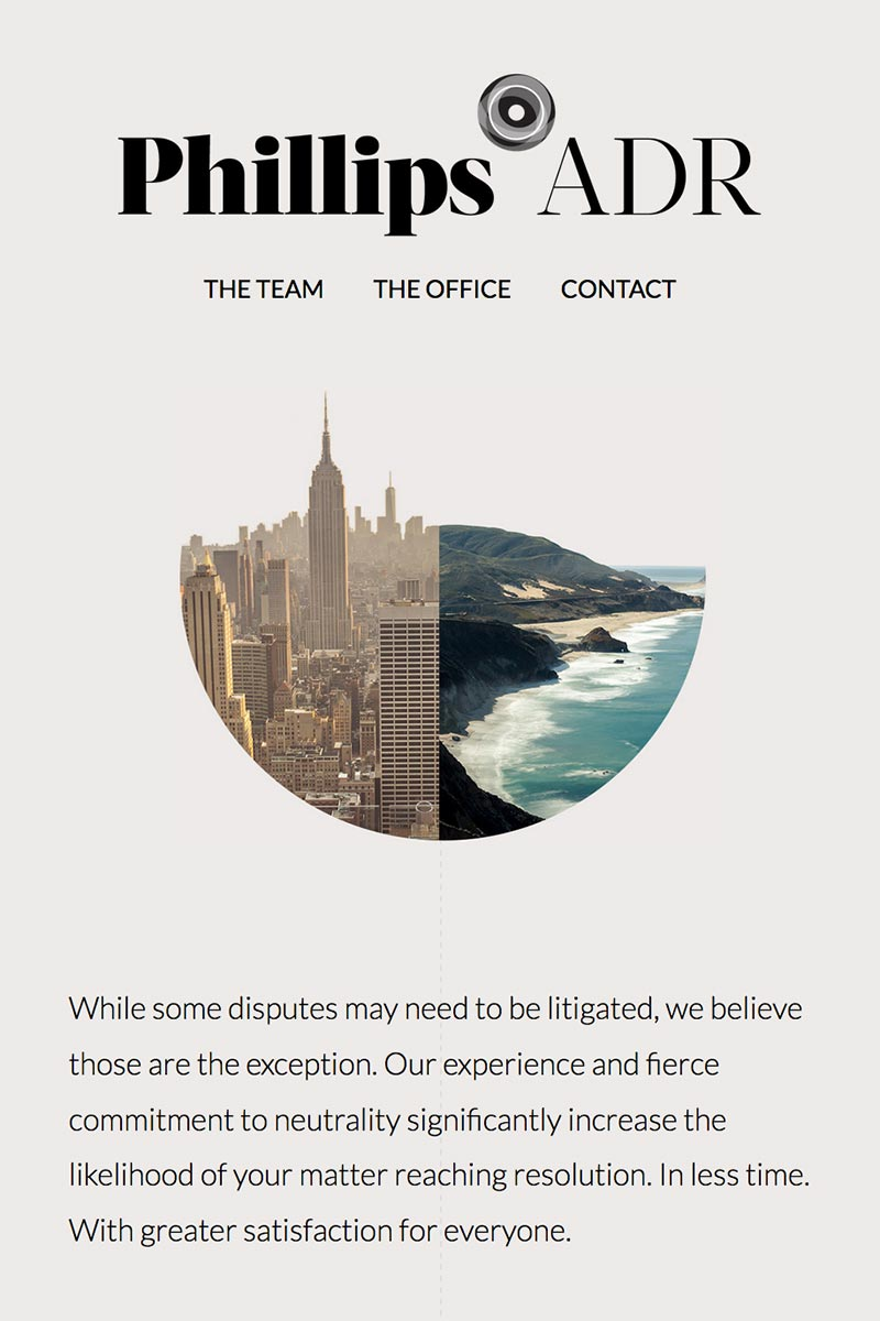 A legal firm's homepage