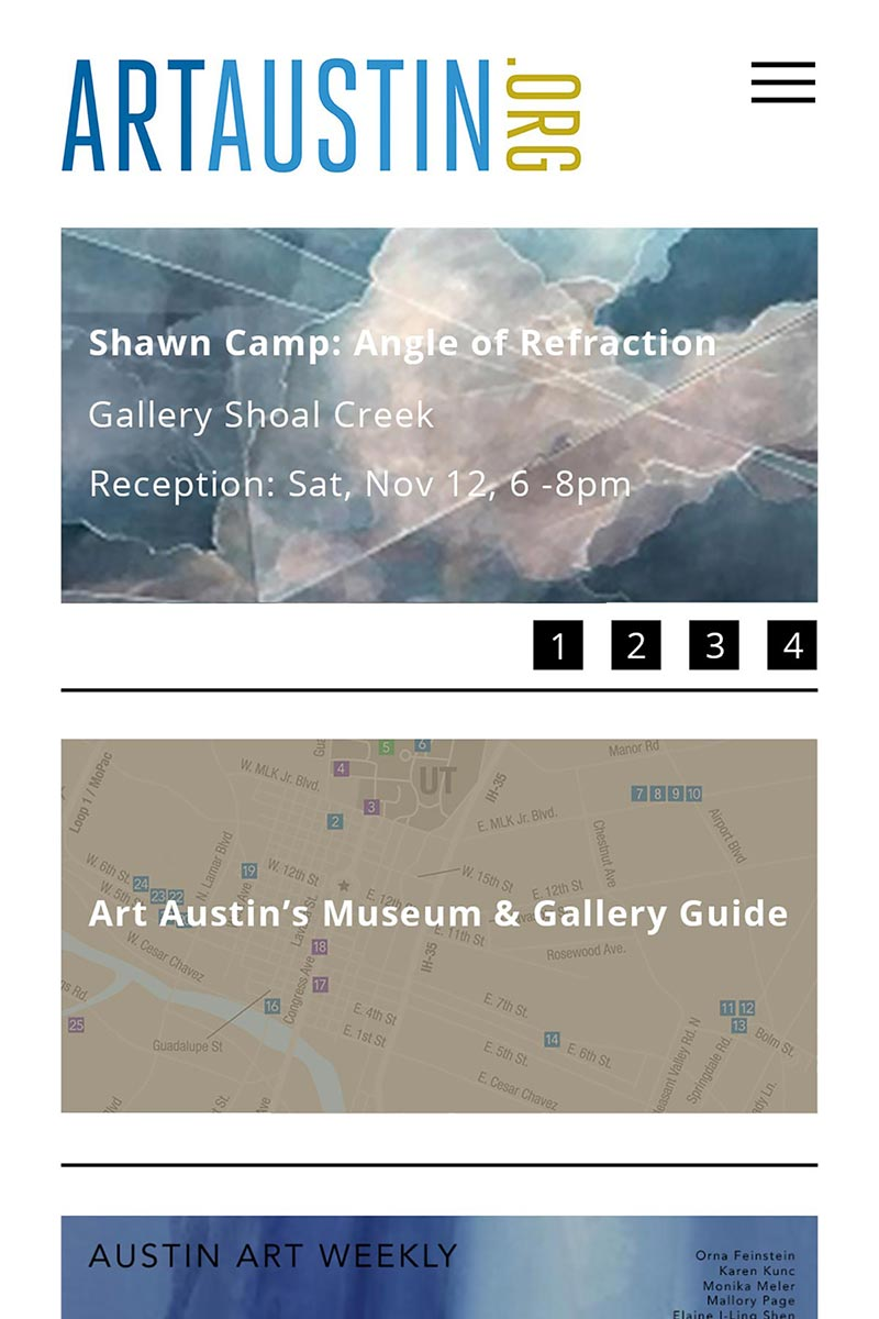 Austin arts website