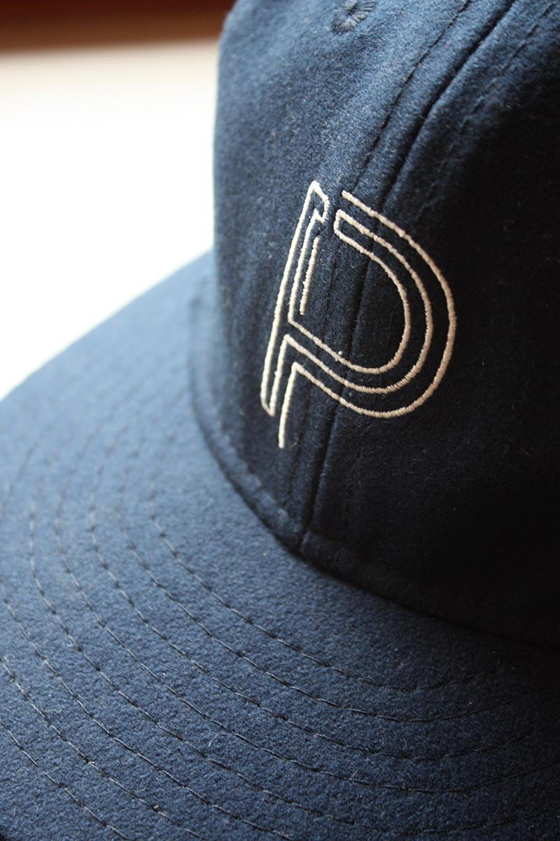 A custom logo'd hat in wool